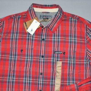 U.S. Polo Assn. Men's Red Plaid Shirt Size Medium
